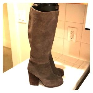 Jeffrey Campbell grey Suede boots 7.5